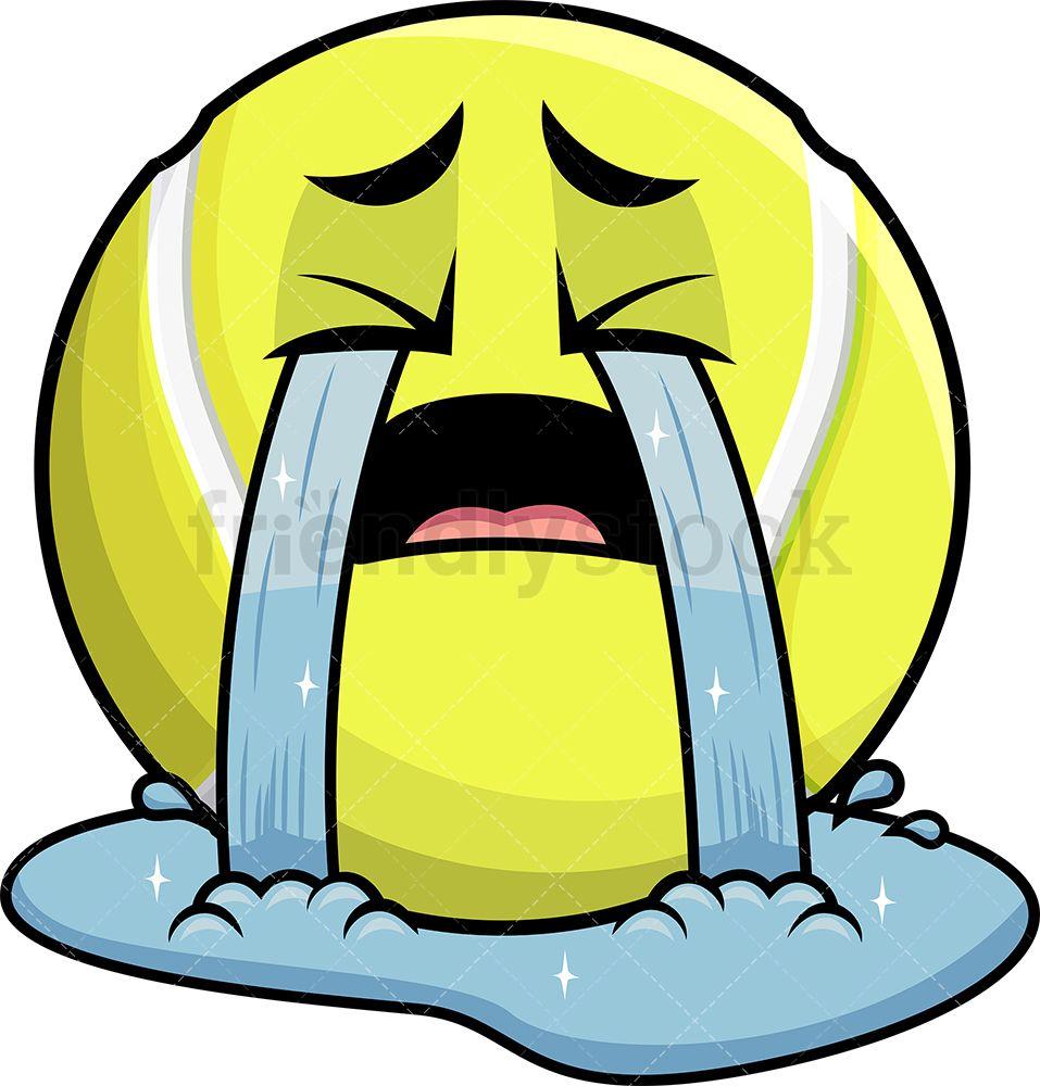 Crying Out Loud Tennis Ball Emoji Cartoon Clipart Vector Friendlystock Cartoon Clip Art Emoji Clipart Emoji