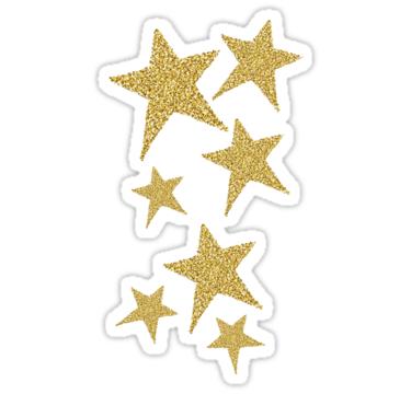 Gold Glitter Stars Sticker By Jaceyerin Gold Glitter Stars Gold Star Stickers Paper Stars