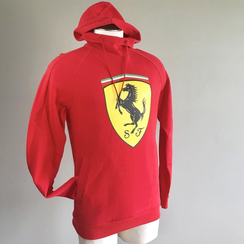 Puma Ferrari Mens Red Big Shield Hoodie Sweatshirt Medium New Sweater Yellow Sf Puma Hoodie Sweatshirts Sweatshirts Hoodie Hoodies
