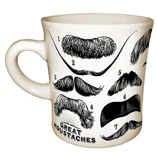 funny moustache coffee mug