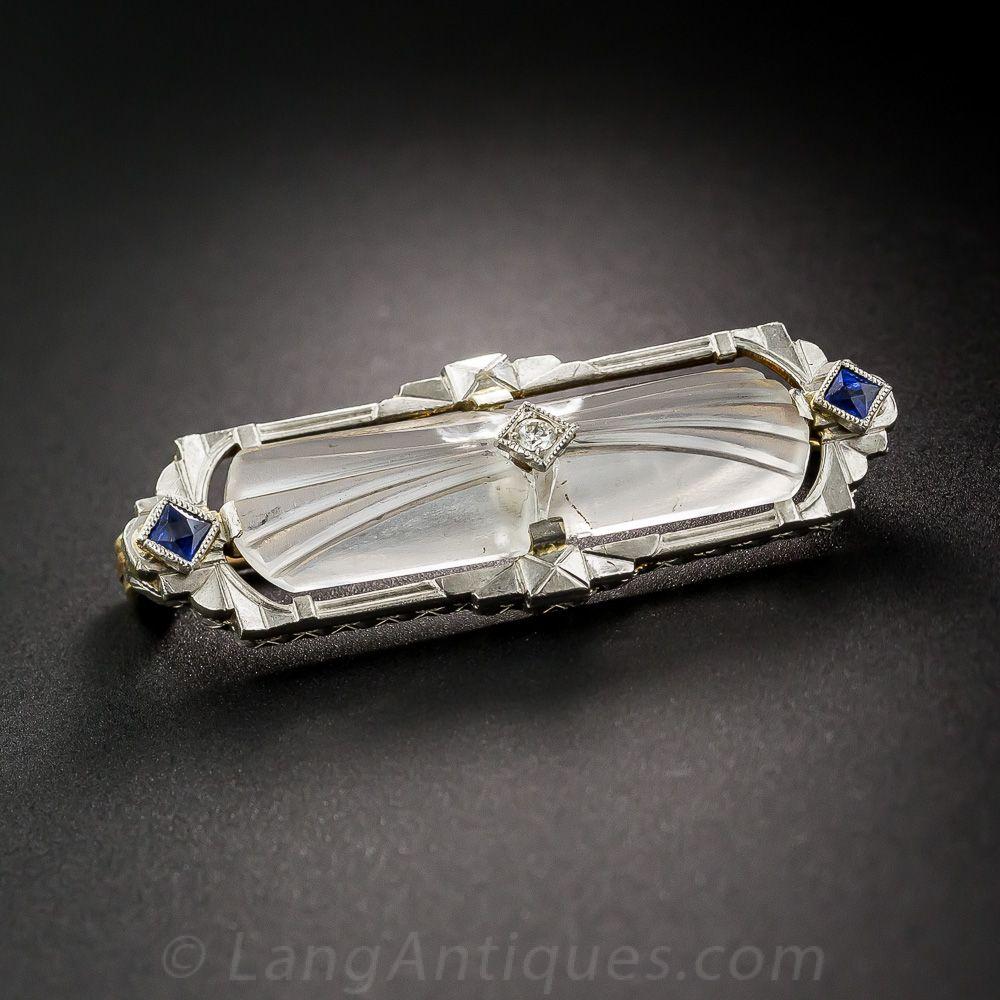 4e5e3fb58 Art Deco Frosted Quartz Bar Pin - 50-1-4786 - Lang Antiques | Art ...