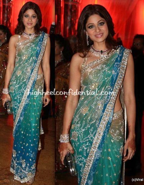 In Manish Malhotra Bollywood Pinterest Saree Shamita Shetty