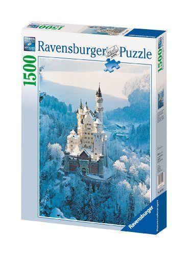 Ravensburger Neuschwanstein Castle In Winter 1500 Piece Jigsaw Puzzle Ravensburger Puzzle 1500 Piece Jigsaw Puzzles Ravensburger