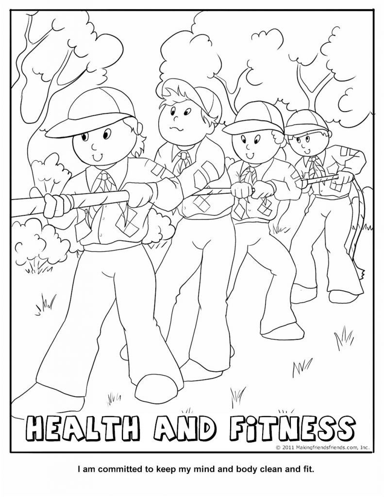 cub-scout-coloring-page-health-and-fitness #cubscouts