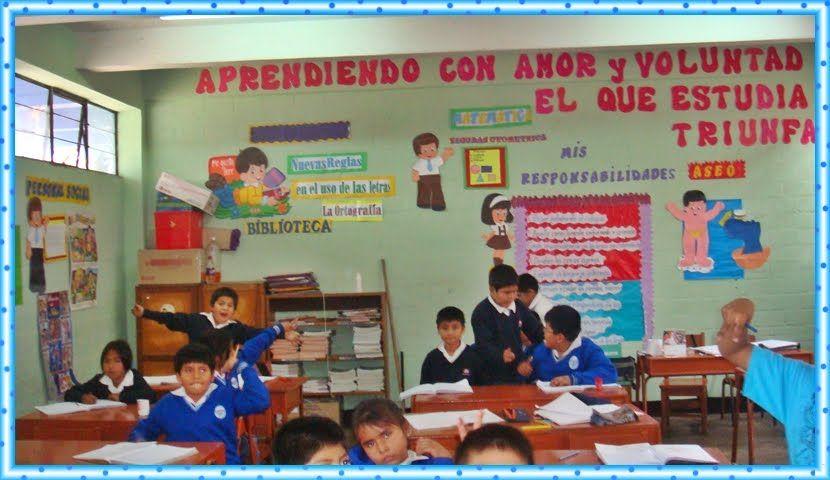Aulas de primaria ambientacion buscar con google for Decoracion aula primaria