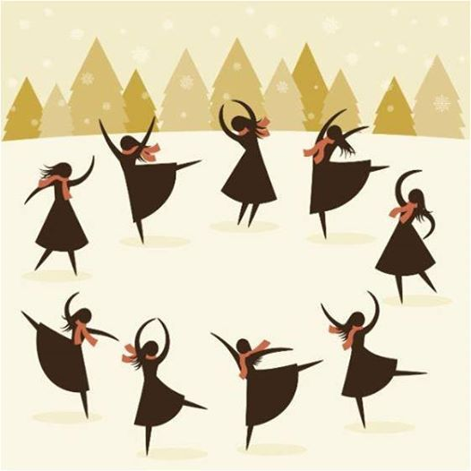 Ninth Day Of Christmas.Yes Today Is The Ninth Day Of Christmas Nine Ladies