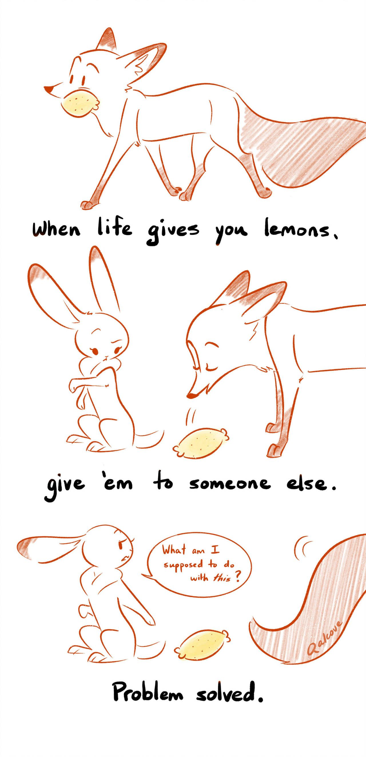 Little Wisdoms - Lemons by Qalcove on DeviantArt | Fox