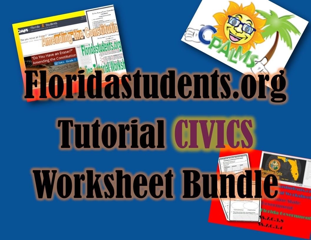 40 Civics Tutorial Worksheet Complete Bundle Eoc Review