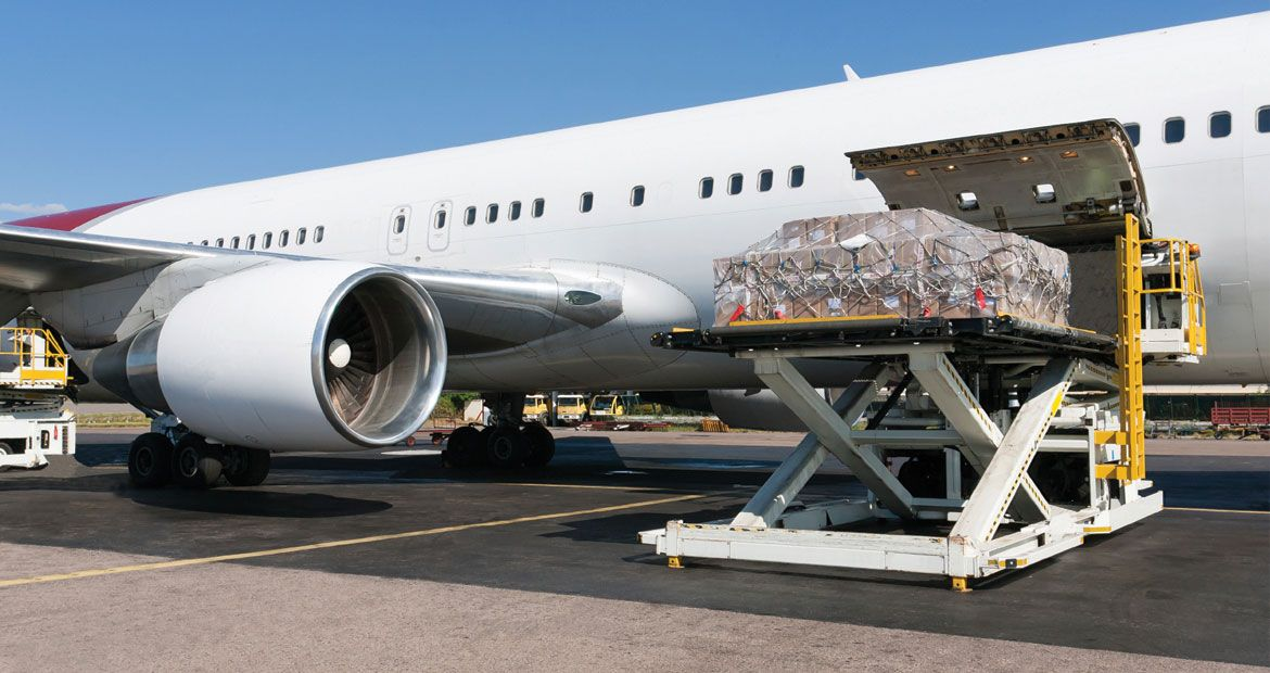 The Air Freight option is perfect for moving large amounts