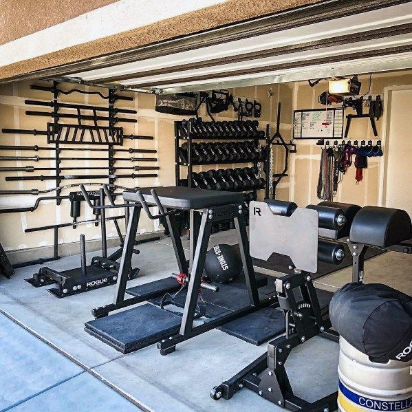 Top 75 Best Garage Gym Ideas - Home Fitness Center Designs -  ideas garage fitness designs center be...