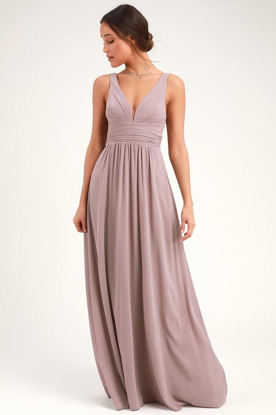 Leading Role Taupe Maxi Dress In 2020 Taupe Maxi Dress Taupe Bridesmaid Dresses Blush Maxi Dress