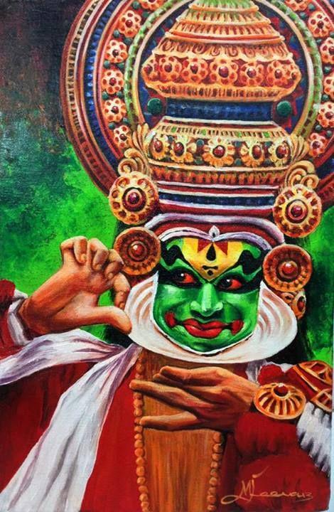 Mohiniyattam Canvas Painting