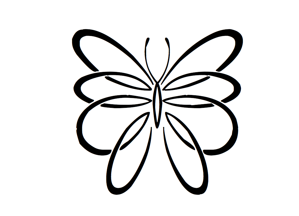 Tatouages papillon modele dessins papillon pinterest - Dessin d un papillon ...