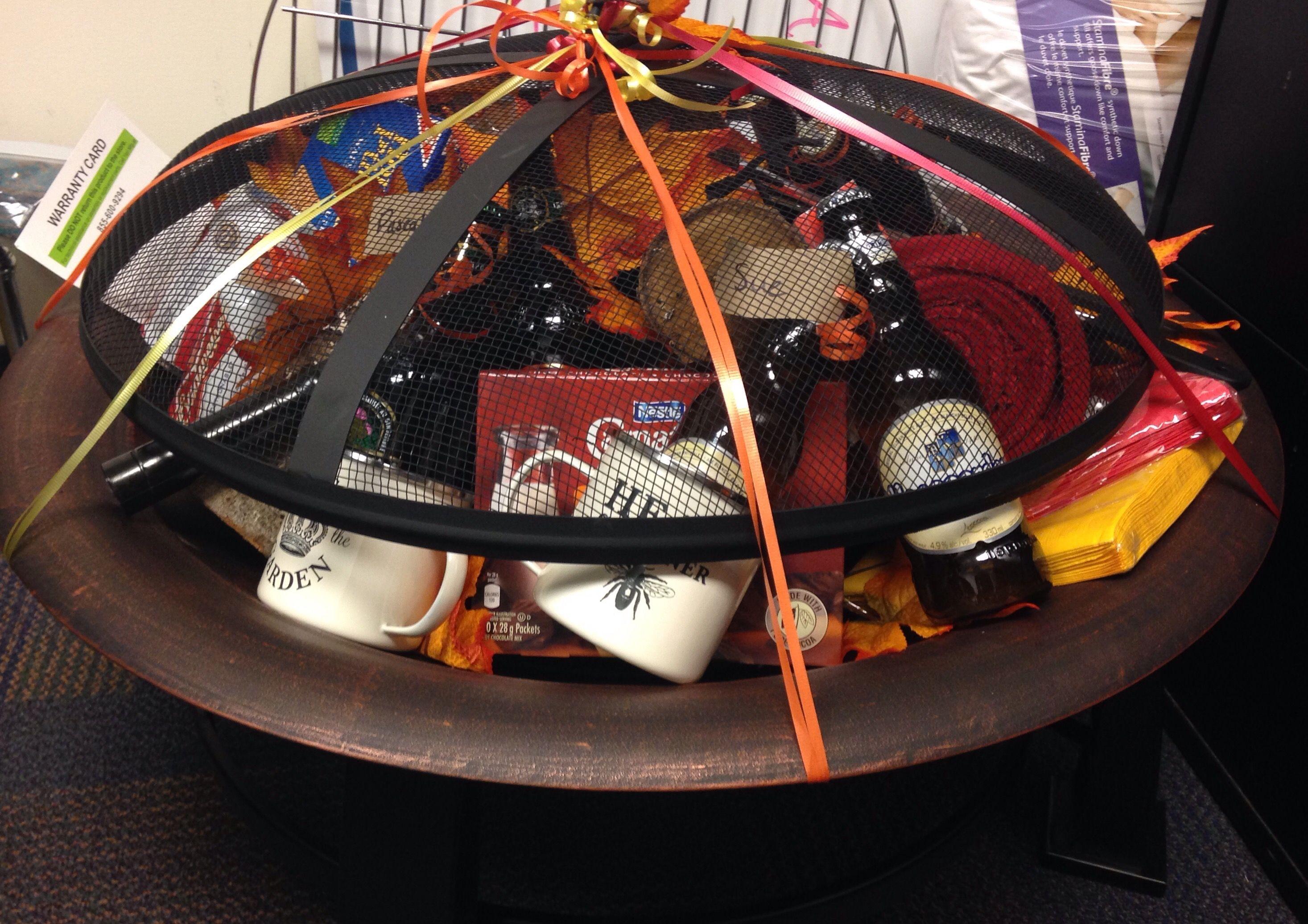 Fire pit - gift basket!   Christmas   Pinterest   Gift ...