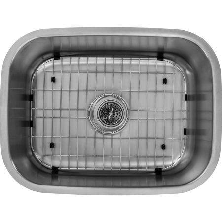 Magnus Sinks 23-7/16 inch x 17-3/4 inch 18 Gauge Stainless Steel