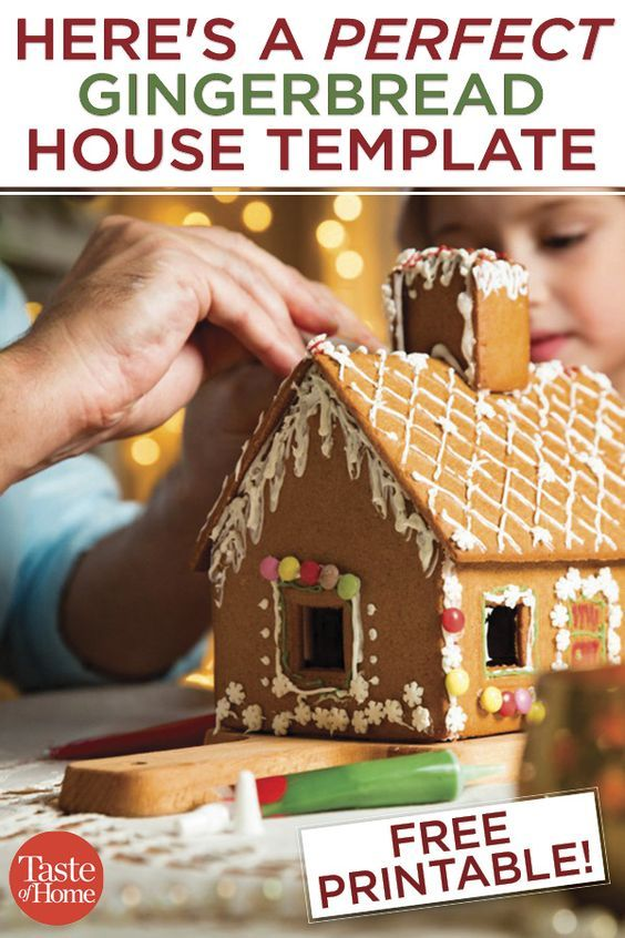 The Best Template for Your Homemade Gingerbread House #gingerbreadhousetemplate