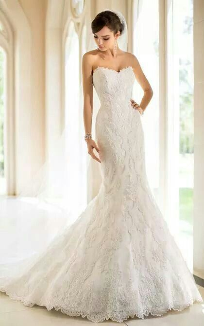 Sunday Style is 5840 by Stella York.   Visit us TODAY to find your perfect wedding gown. www.ClassicBrideandFormals.com | Info@classicbrideandformals.com | 704.896.3655