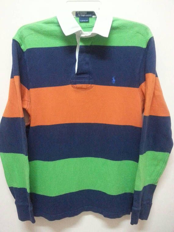 Vintage 90 S Polo Ralph Lauren Rugby Shirt Small Unicorn