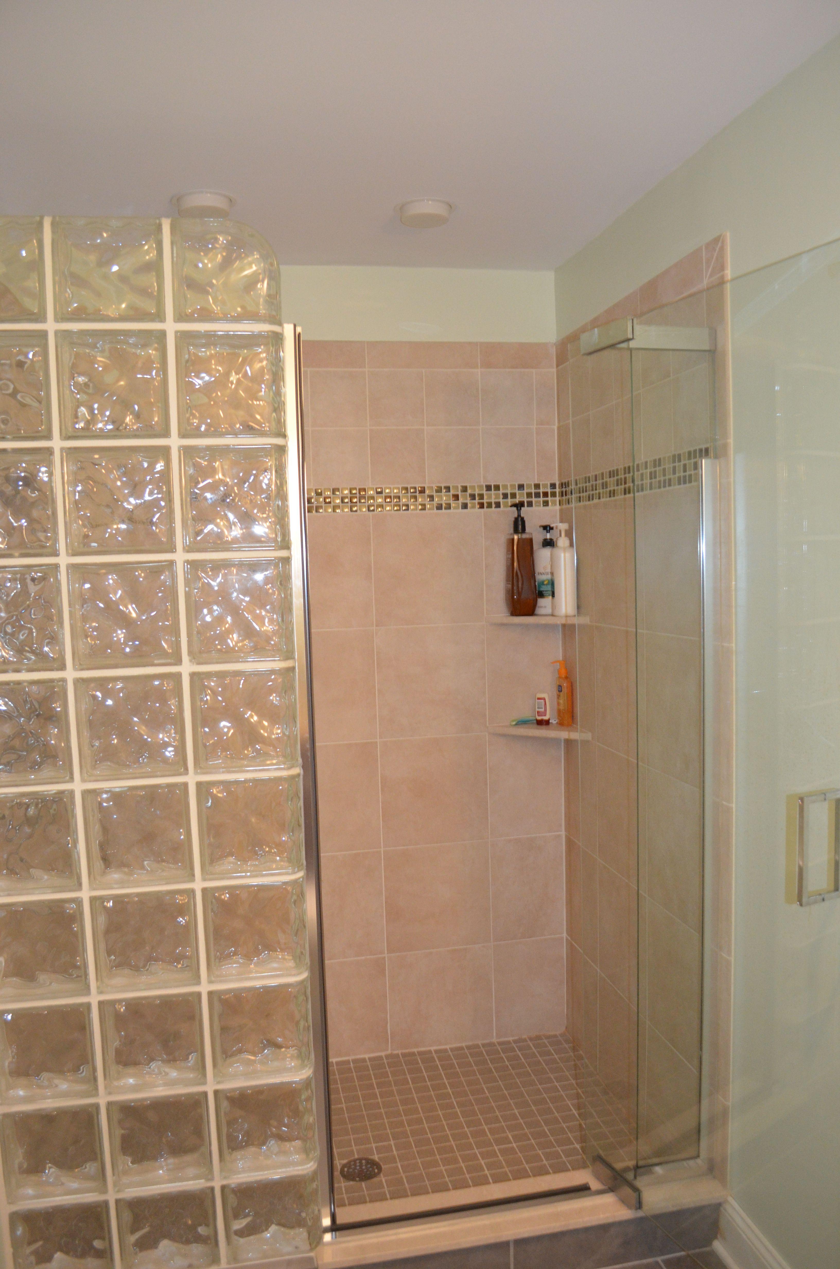 Glass Block Shower Wall Modelos De Baños Pequeños Modelos De Baños Baños Pequeños