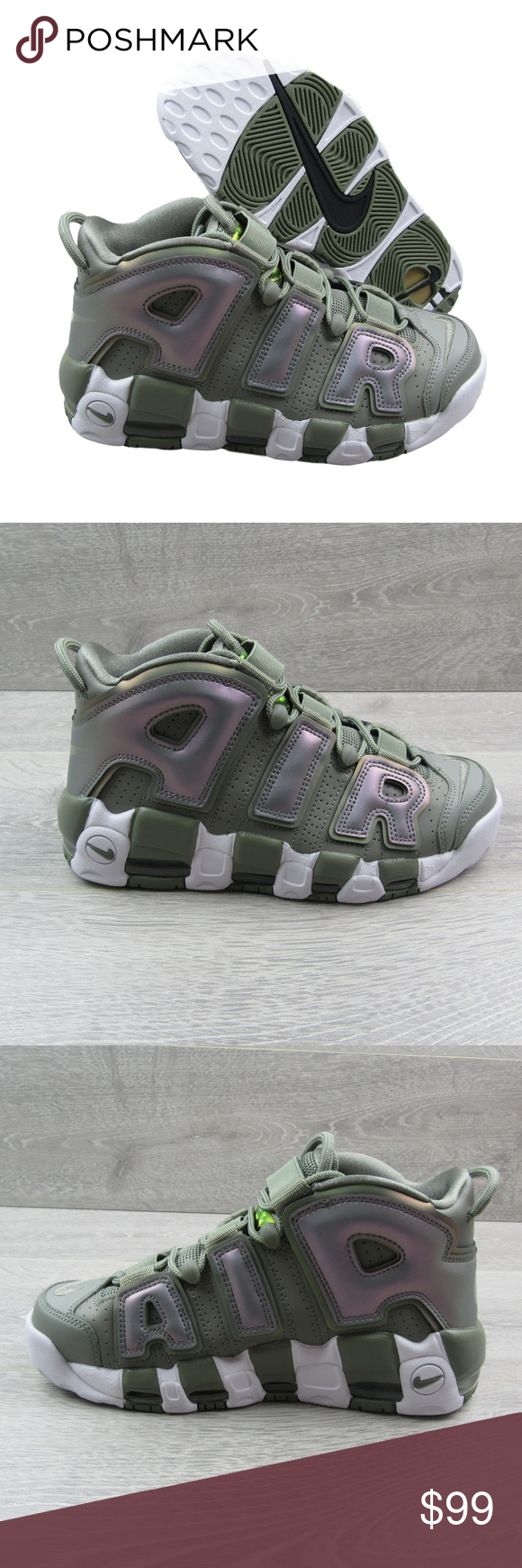 ea8f3fb5bd Nike Air More Uptempo Womens Dark Stucco Green PRICE IS FIRM - NO OFFERS  PLEASE Nike