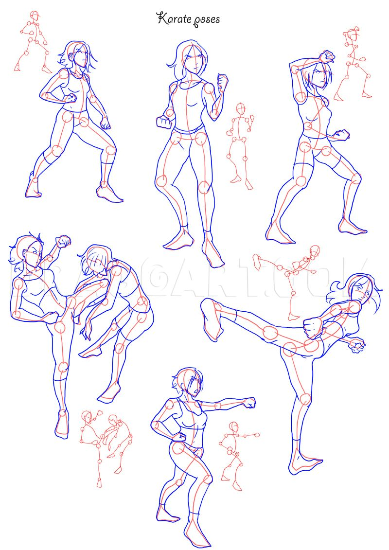 How To Draw Fighting Poses Step By Step Drawing Guide By Neekonoir Dragoart Com In 2020 Fighting Drawing Fighting Poses Online Drawing