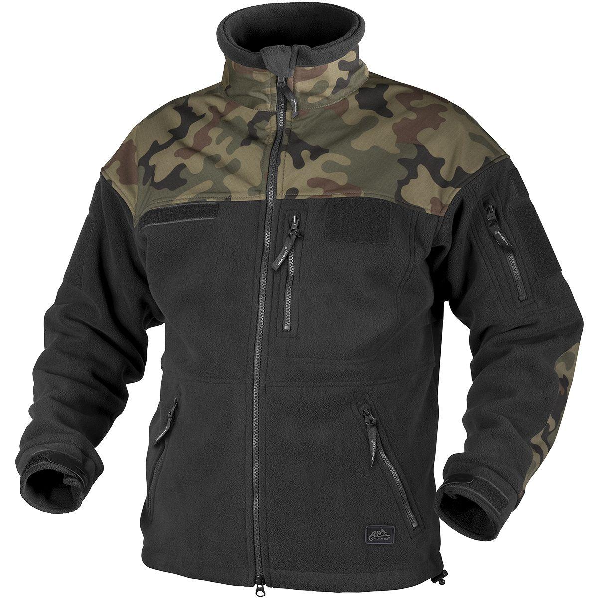 Helikon infantry duty fleece jacket black polish