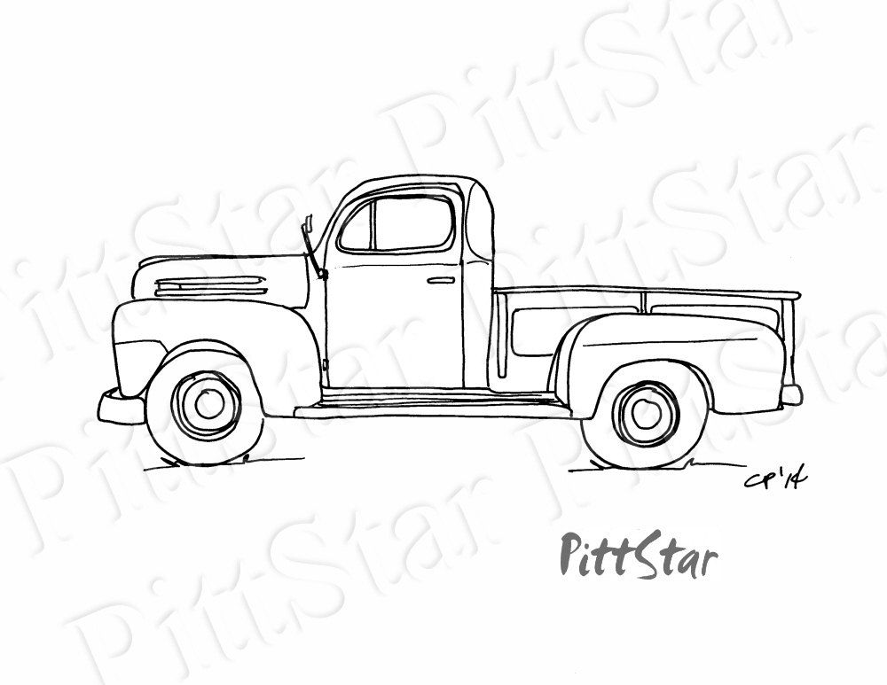 Instant Download Vintage 1940 S Pickup Truck Printable Etsy In 2021 Truck Coloring Pages Pickup Trucks Vintage Pickup Trucks