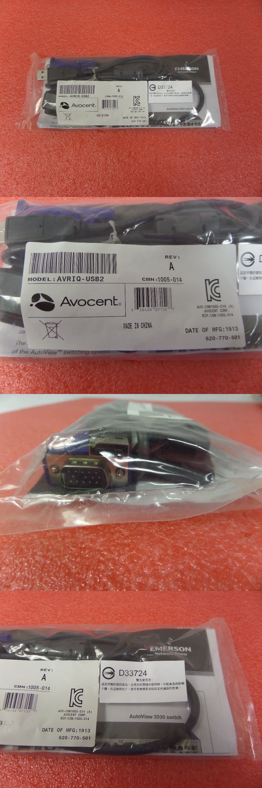 Kvm Cables 182095 Avocent Avriq Usb2 Kvm Interface Module Rj45 Network Switch Adapter 520 555 501 Buy It Now Only 40 Network Switch Kvm Cables Networking