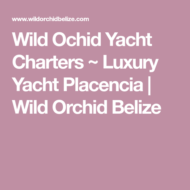 Wild Ochid Yacht Charters Luxury Yacht Placencia Wild Orchid Belize Luxury Yachts Boat Insurance Placencia