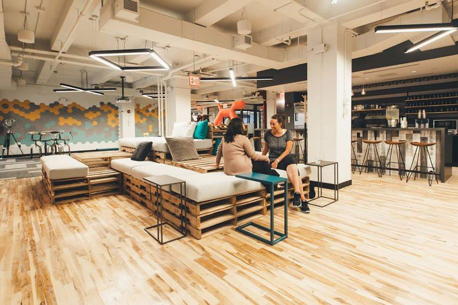 Working alone together coworking space manhattan and desks for Well designed office spaces