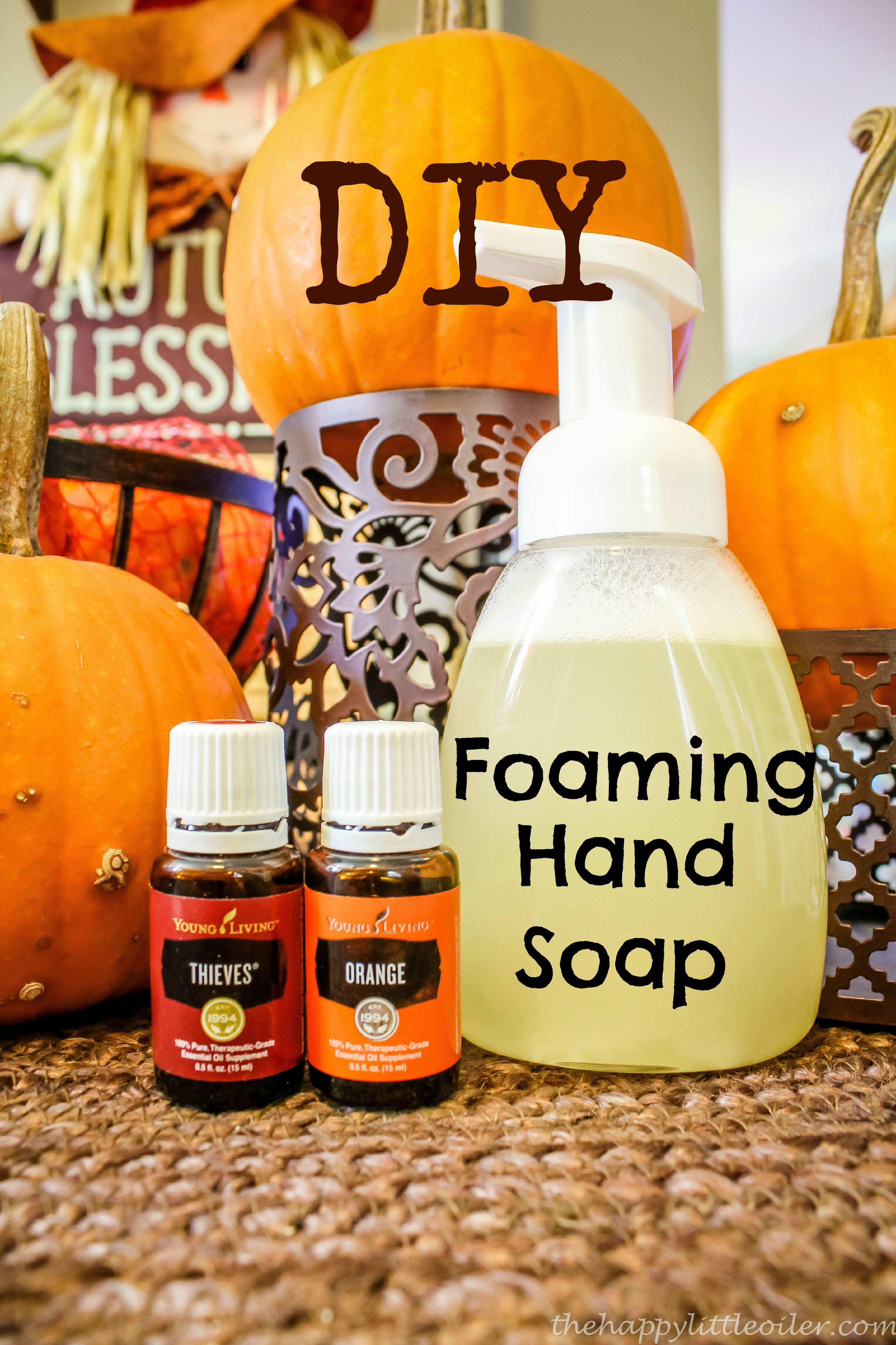 DIY Foaming Handsoap Young living oils recipes, Diy