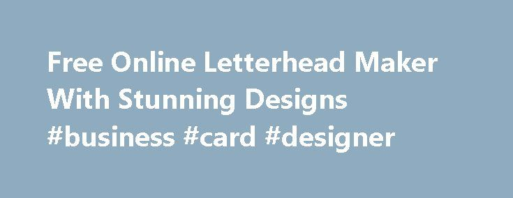 free letter head maker