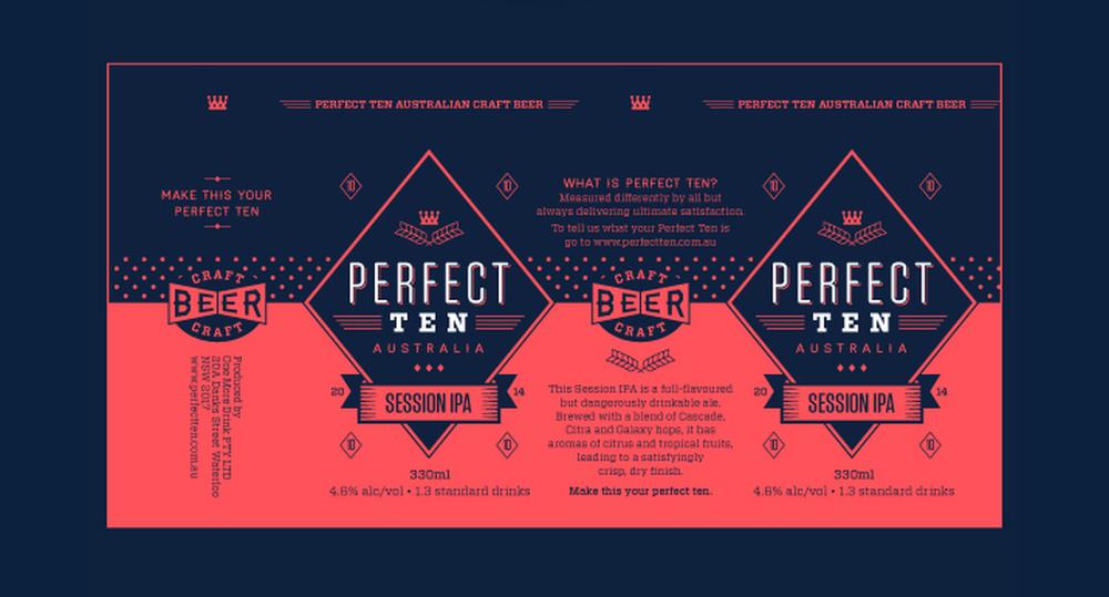 Perfect Ten Craft Beer — The Dieline - Package Design Resource