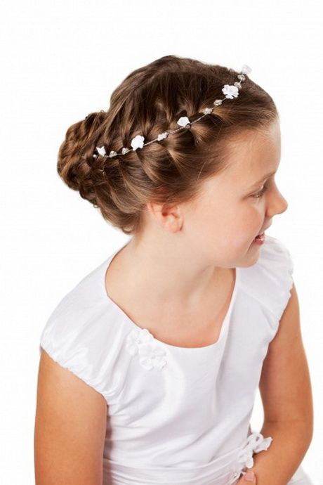 Frisuren Mädchen Kommunion Frisuren Zoé Pinterest