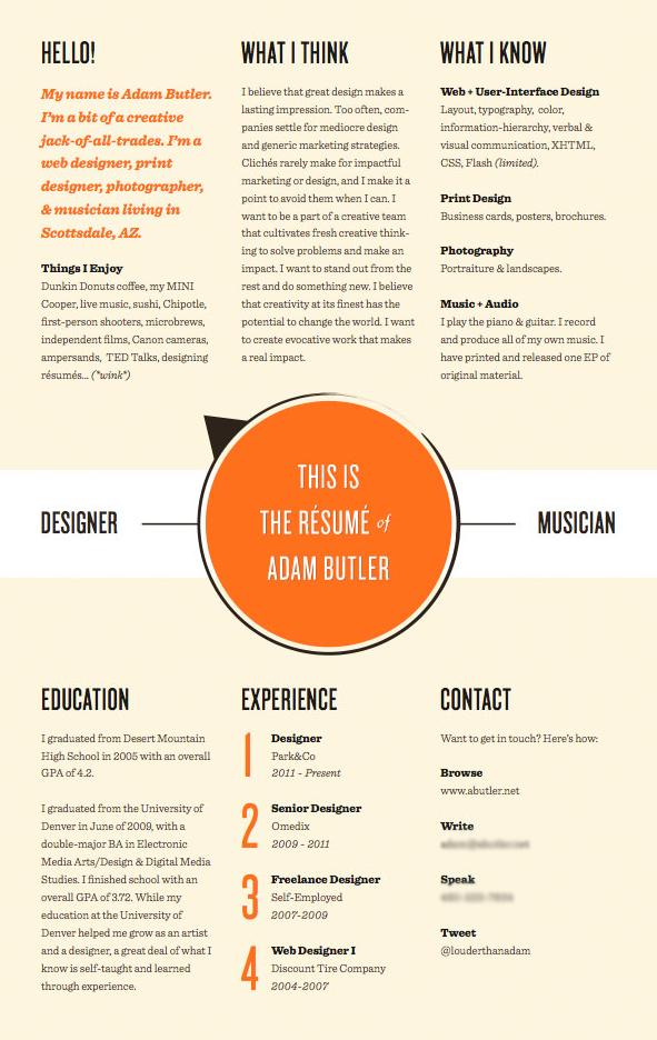 creative curriculum vitae  cv  curriculumvitae