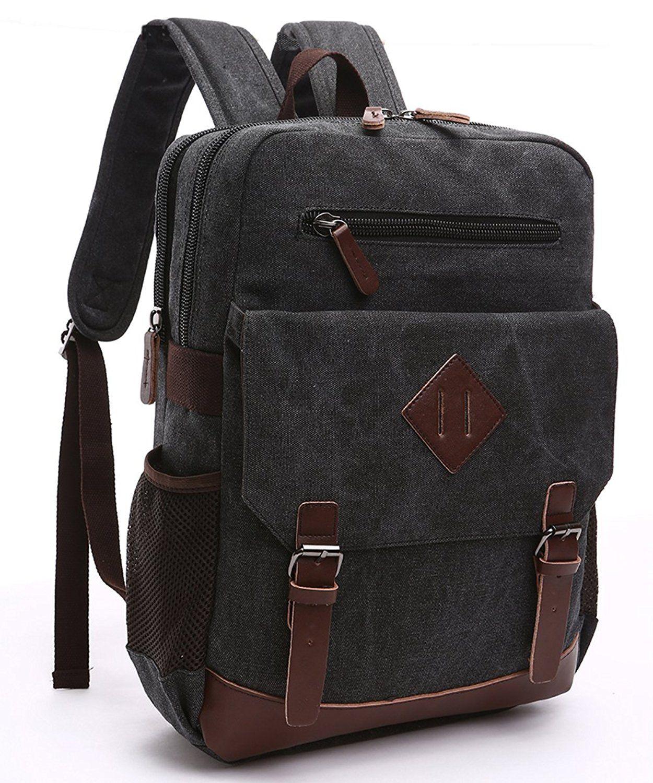 Cool Walker Vintage Canvas College Backpack School Bag Laptop ...