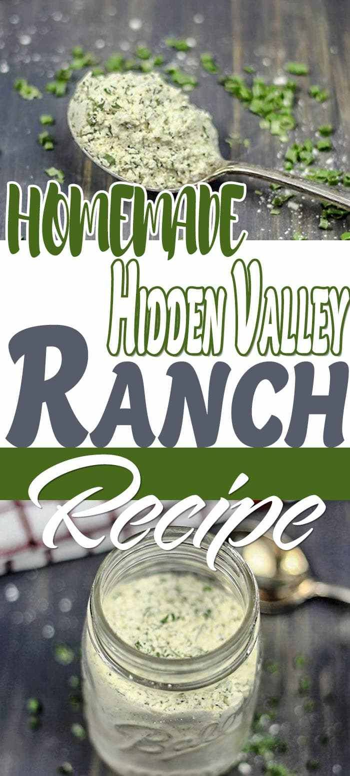 Hidden Valley Ranch Packet Recipe ⋆ by Pink #homemadeseasonings