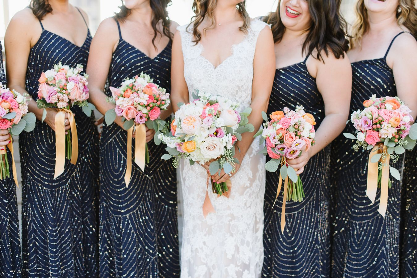 Adrianna Papell Bridesmaids Dress With Sequins And Beading