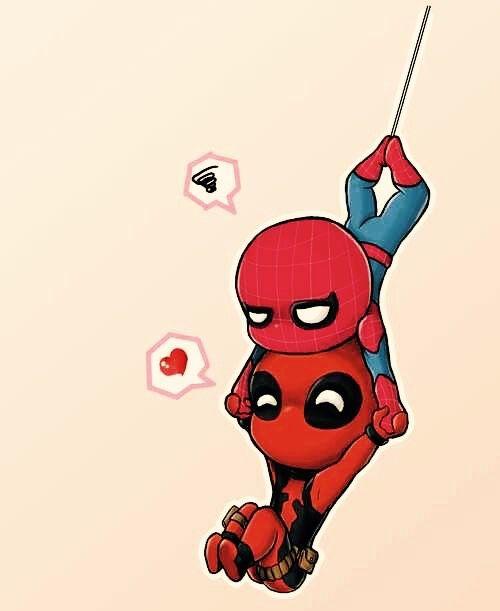 コミックアート, マーベルヒーロー, チビのデッドプール, Marvelのデッサン, キュート