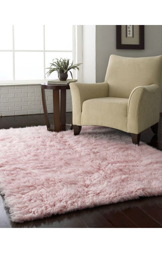 Rugs Usa Ultra Shag Premium Greek Flokati Pink Rug Pink