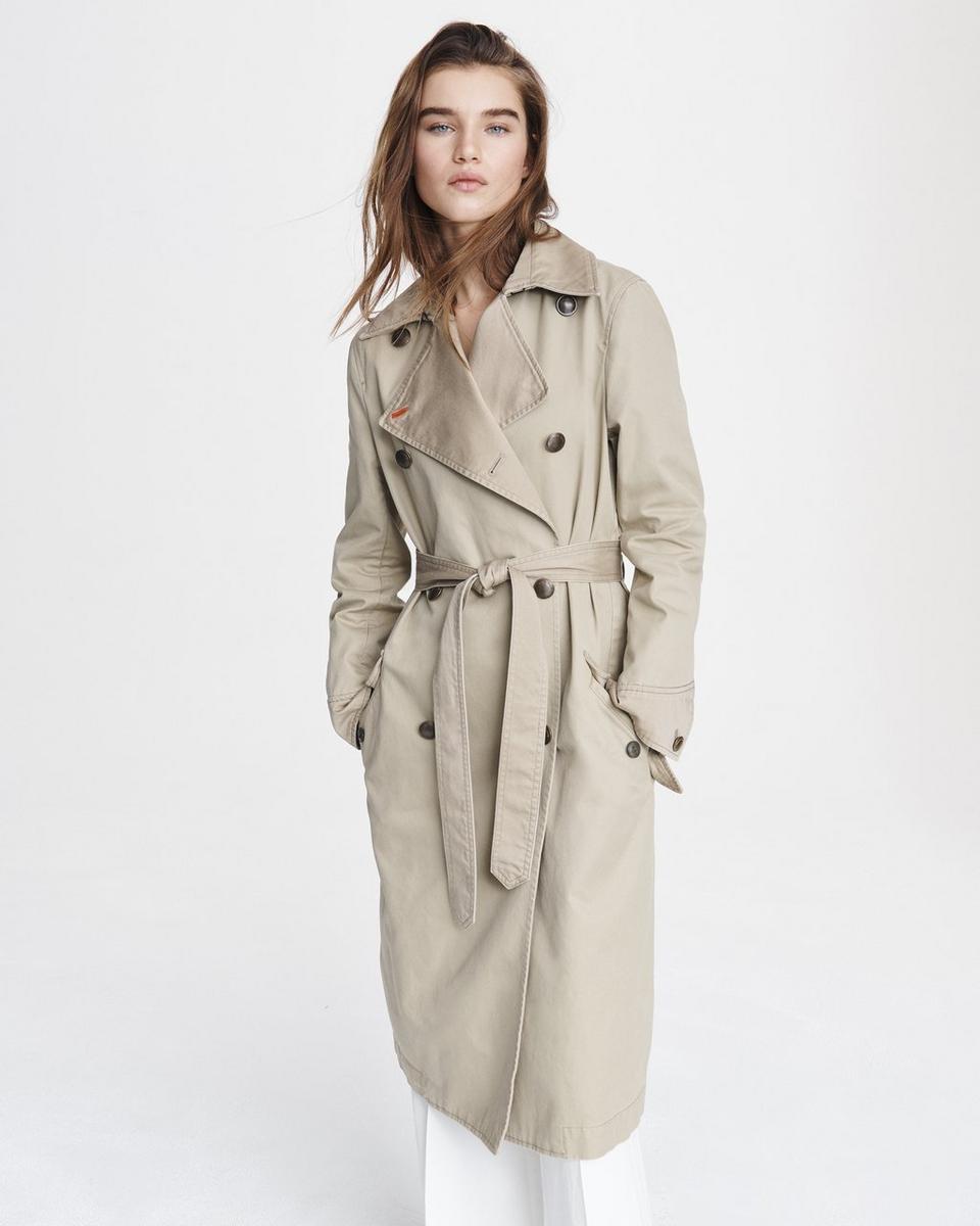 Shop The Adriene Cotton Coat Cotton Coat Military Inspired Jacket Trench Coats Women