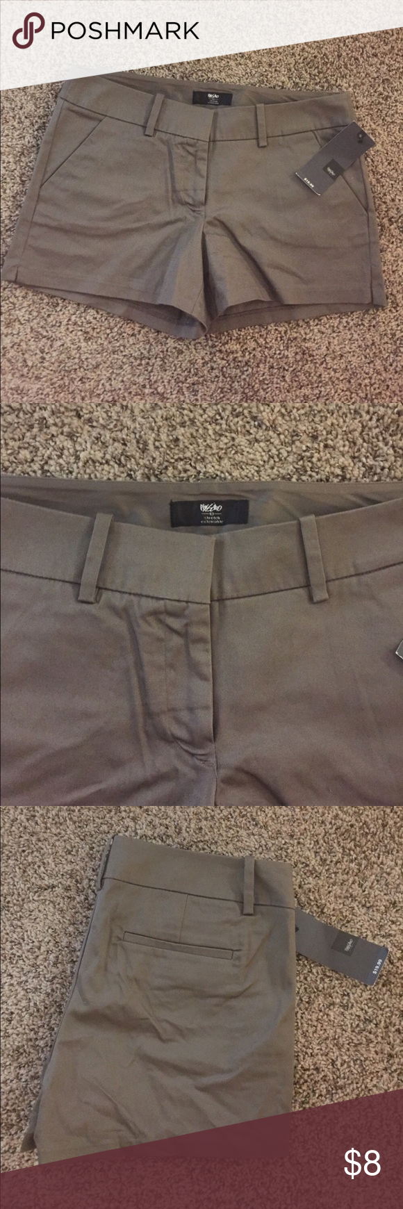 """NWT Mossimo Olive Green Shorts 16.5"""" waist and 3"""" inseam. 98% cotton and 2% spandex Mossimo Supply Co Shorts"""