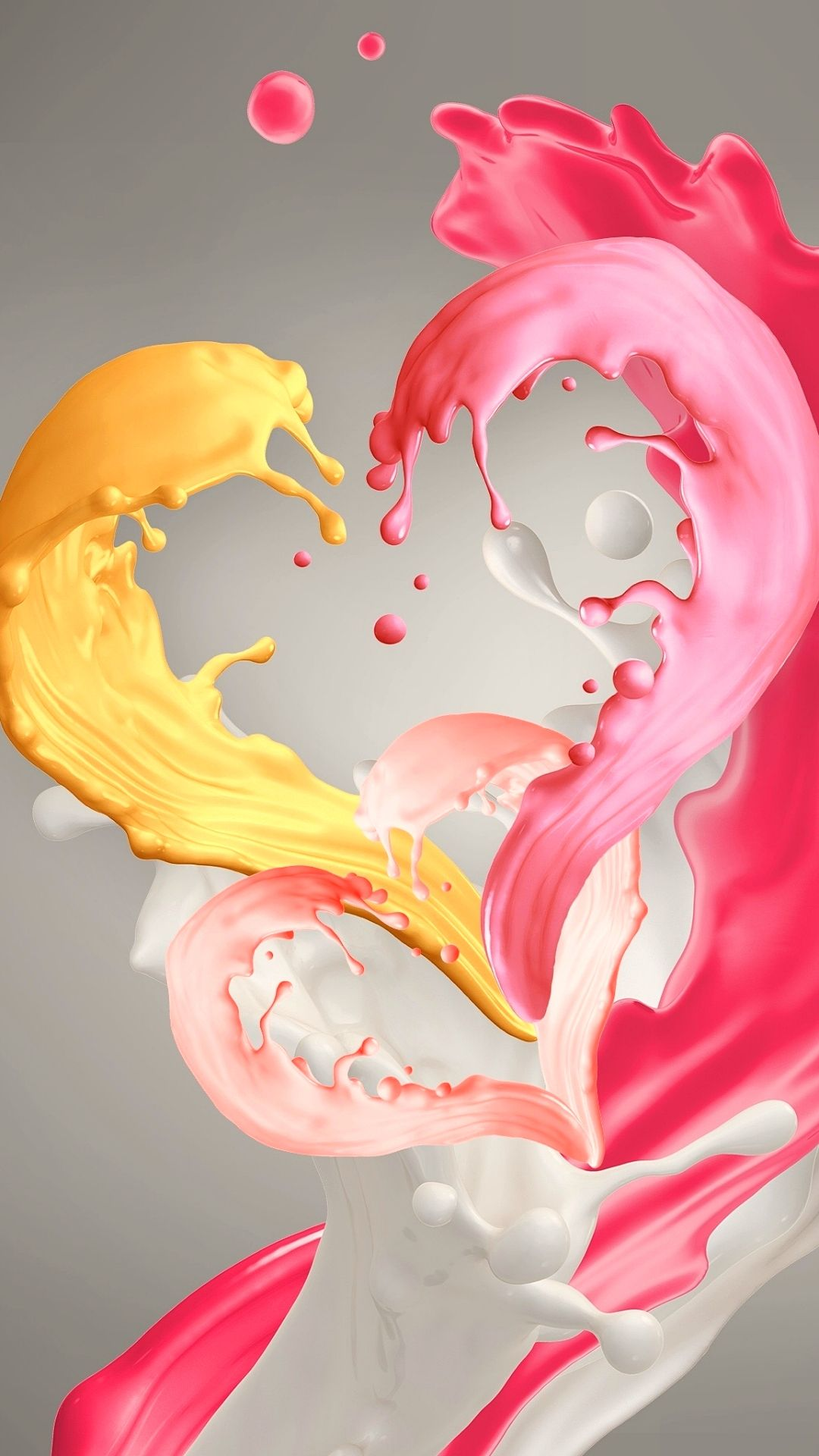 Pink And Yellow Paint Heart Samsung Galaxy J2 Core Hd Wallpapers In 2021 Heart Iphone Wallpaper Heart Wallpaper Yellow Painting