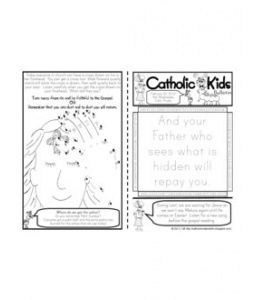 Kids Ash Wednesday printable activities/ bulletin