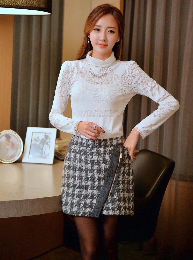 Moda en corea 21 modelos de faldas para este 2014 parte - Modelos de faldas de moda ...