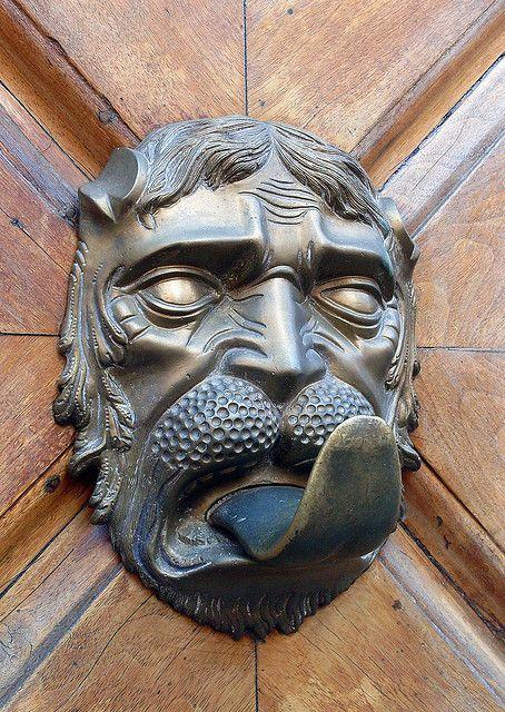 Old door handle Tirer la langue, Italie et Portes