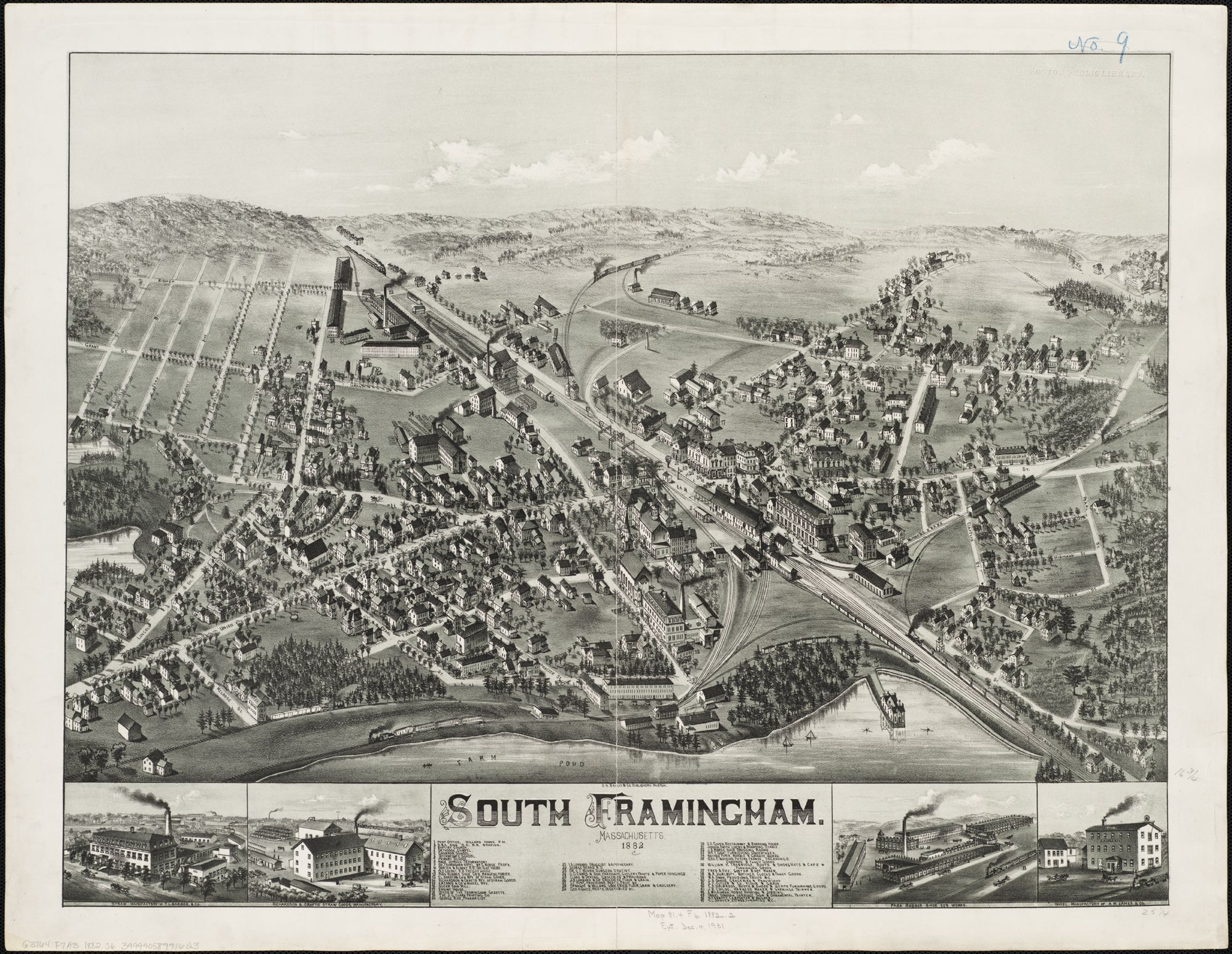 Town Map South Framingham MA 1882 The Way it Was Pinterest