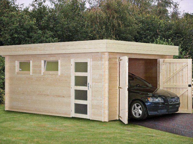 Detached Modern Car Garages Style Garage Plans One Car Two Car