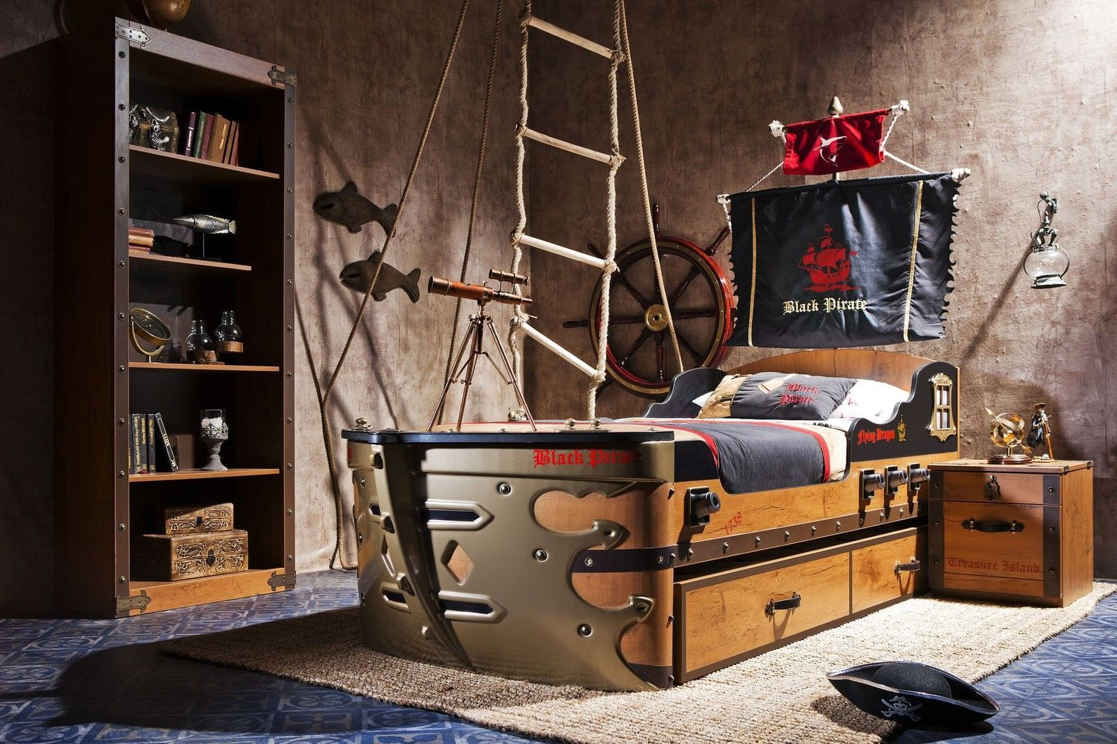 schiffbett black pirate cilek m bel kinderbett kinderm bel tuv gs jugendbett pinterest. Black Bedroom Furniture Sets. Home Design Ideas