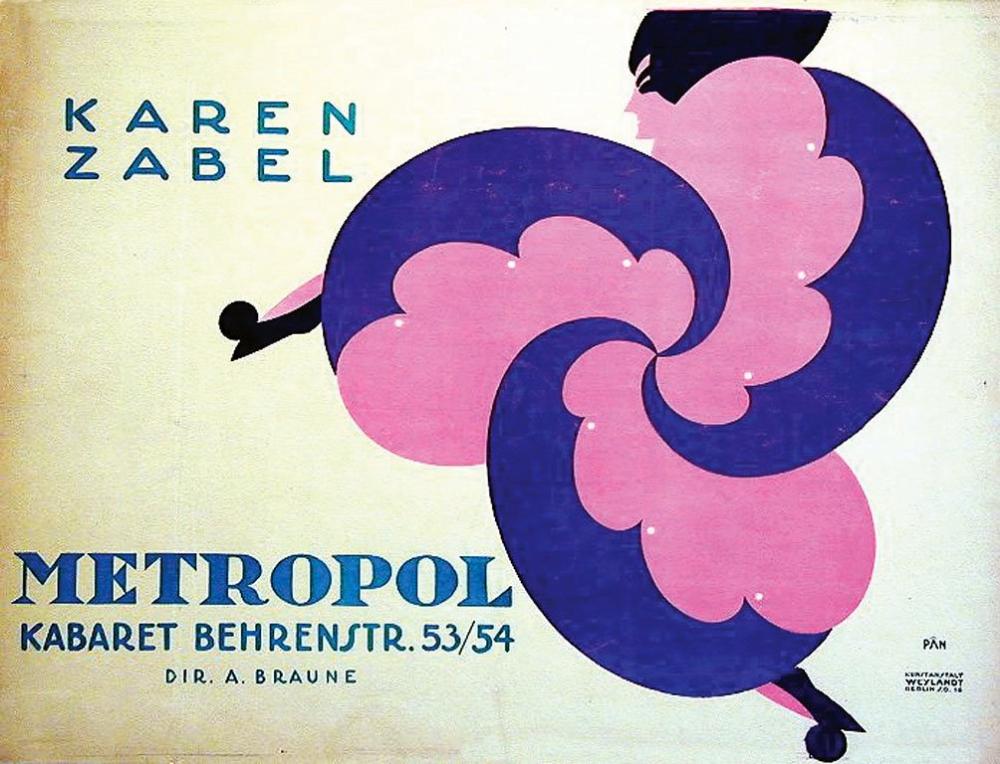 Karen Zabel Metropol Cabaret Berlin 1918 With Images Vintage Advertisements Cabaret Berlin